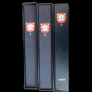PORTUGAL - Three DAVO albums with stamps