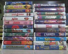 Lot of 23 Children's DISNEY Movies VHS Masterpiece BLACK DIAMOND CLASSICS Bambi