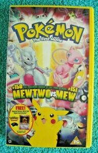 COLLECTABLE POKEMON THE FIRST MOVIE VHS 2000 PG