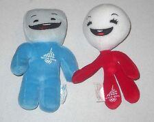 2 Mascotte NEVE e GLIZ per mano Torino 2006 Olimpiadi Olympic Winter Mascot