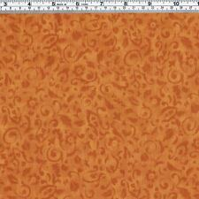 Golden Tan LEAF Print Fabric ~ FQ