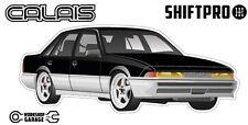 VL Calais Holden Commodore Sticker - Black with Momo Rims - ShiftPro Brand