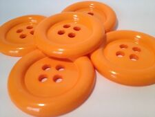 4 Giant Orange 50mm Grande De Plástico Payaso Botones Coser y Fancy Dress