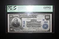 1902 $10 National Banknote FNB of Marietta, Ohio PCGS 64ppq FR624 Charter 142