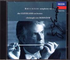 Christoph von DOHNANYI Signiert BRUCKNER Symphony No.7 Cleveland DECCA CD 1992