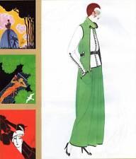 """ORIGINALE Erte Vintage Art Deco stampa 1972 """"Harpers Bazaar copre PIASTRA"""" Libro"""