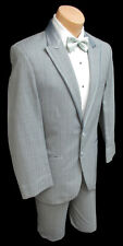 Men's Jean Yves Grey Tuxedo with Pants Prom Wedding Groom Formal Cruise Discount