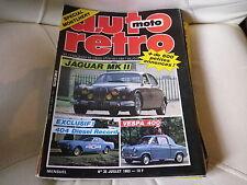AUTO RETRO MOTO n° 35 de 1983 très bon état JAGUAR ML II 404 Record VESPA 400