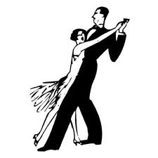 DANCERS unmounted rubber stamp, dancing couple, dance party #2