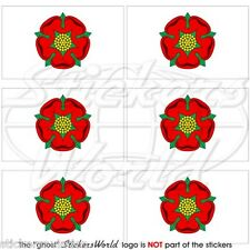 LANCASHIRE Red Rose of Lancaster Flag UK Mobile Cell Phone Mini Sticker-Decal x6