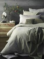 2 Aura Rainforest Green 300TC Cotton European Pillowcases