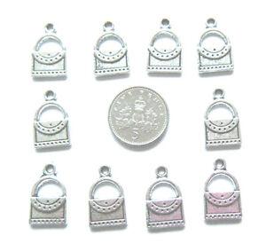 10 tibetan silver handbag charms