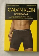 Men's Large New calvin Klein MICROFIBER stretch Navy Blue Boxer Briefs