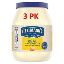3 Pack Hellman's Real Mayonnaise 64oz Jars