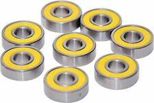Pro Skateboard Bearing Yellow Abec 3 Titanium Stainless Hi-Quality