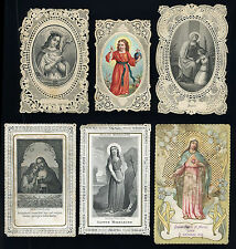 santini merlettati-holy cards lace-canivets-spitzebildichen LOTTO N.561