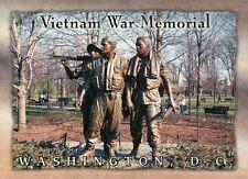 The Three Soldiers, Vietnam War Memorial Bronze Statue Washington DC -- Postcard