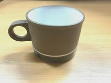 "LANCASTER VITRAMIC HORNSEA BROWN & WHITE 3.25""-WIDE CUP"