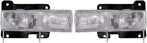99-00 ESCALADE HEADLIGHT ASSEMBLY KIT SET RH RIGHT AND LEFT LH HEADLAMP 1590120