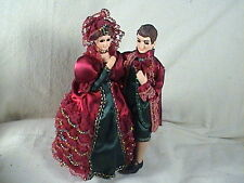 """Bradley Doll Figurine Musical Victorian Couple Waltzing To """" If You Love Me"""
