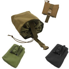 Foldable Utility Tactical Hunting Magazine Ammo Dump Drop Pouch Bag Airsoft