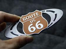 Metal SRX Route 66 Road Refitting Car Sticker Badge Emblem For Cadilla SRX CTS