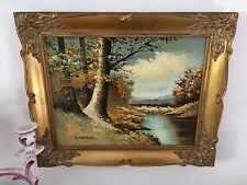 Mid Century Oil Painting by Listed Artist S.Gruber c.1966