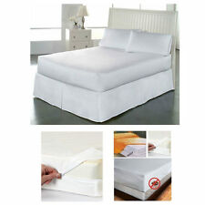 Full Size Bed Mattress Cover Zipper Plastic Dustproof Water Resistant Anti Bug
