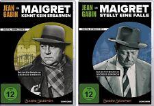2 DVDs * JEAN GABIN MAIGRET KENNT KEIN ERBARMEN + STELLT EIN FALLE # NEU OVP $