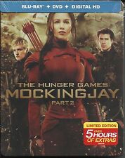 Hunger Games Mockingjay Part 2 Steelcase (Blu-Ray+DVD+DC+5 Hours of Extras)
