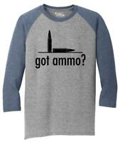 Mens Got Ammo? Funny Gun Rights Tee 3/4 Triblend Bullets Guns