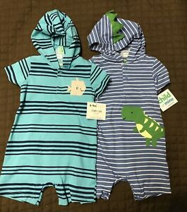 6-9 Months- Carters Child Of Mine-  1 Pc Animal Romper-Dinosaur-Whale Is Sold