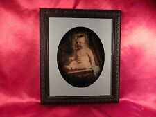 VINTAGE CHUBBY BABY PHOTOGRAPH - PROFESSIONALLY FRAMED