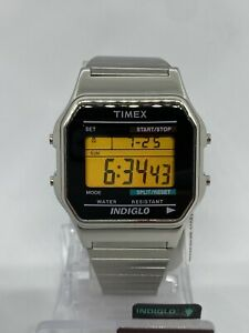 Timex Men's T78587 Classic Digital Silver-Tone Stainless Steel Expansion Watch