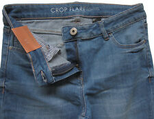 New Womens Blue Crop Flare NEXT Jeans Size 12 Regular DEFECTS