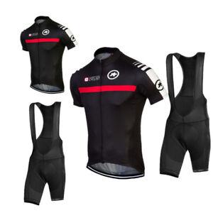 Men Team Cycling Jersey Bib Shorts Set Bike Clothing Bicycle Short Sleeve Outfit