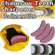 3x Woodworking Chainsaw Teeth Chain Saw Sharpener Sharpening Stone Grinding Tool