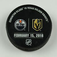 Vegas Golden Knights Warm Up Puck Used 2/15/18 VGK Vs Edmonton Oilers Game