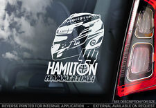 Lewis Hamilton #44 - Car Window Sticker -Mercedes Formula 1 F1 HELMET Decal -V02