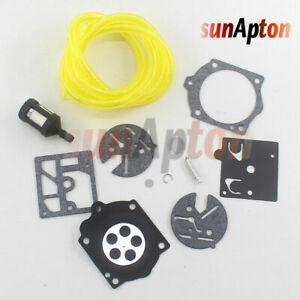 Carburetor Repair Kit For McCulloch Pro Mac 610 650 655 Chainsaw Carb Fuel Line