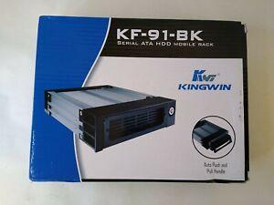 Kingwin Black Serial ATA SATA Aluminum mobile rack w/ native connector KF-91-BK
