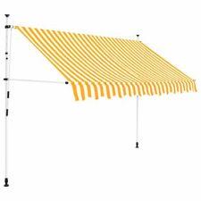 Vidaxl Tenda da sole Retrattile 250 cm Balcone Strisce Bianco/giallo Parasole