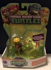 Half Shell Heroes Mikey with Brachiosaurus Nick Teenage Mutant Ninja Turtles new