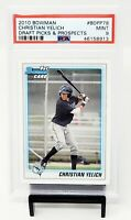 2010 Bowman RC Brewers Star CHRISTIAN YELICH Rookie Baseball Card PSA 9 MINT