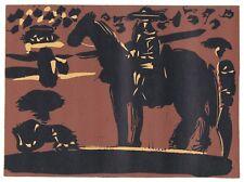 Pablo Picasso Linocut / Linogravure Picador First Edition 1962
