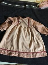 ANTIQUE cotton,si dress for FRENCH doll Jumeau Steiner Bru antique lace size 9-1