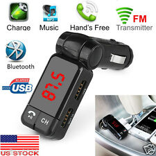 Glamor LCD Bluetooth Car Set FM Transmitter MP3 USB Charger Handsfree For iPhone