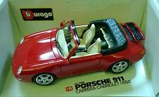 BURAGO 1:18 PORSCHE CARRERA CABRIO 3090 MADE IN ITALY