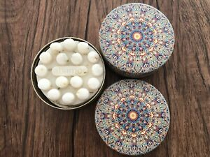 Scented Massage Floral Soap Decorative Floral Tin Container Made in Turkey