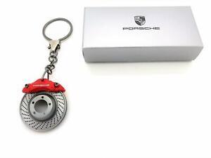 Genuine Porsche Key Chain Key Ring Brake System Motif Red Brake Caliper & Disc